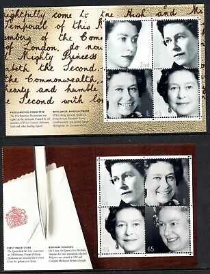 GB 2002 Golden Jubilee Booklet Pane SG2253a & SG2254b Unmounted Mint