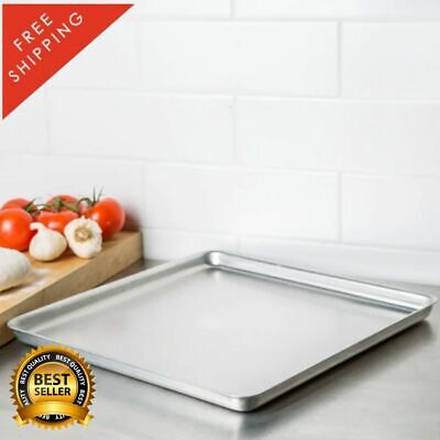 """16"""" x 16"""" x 1"""" Square Deep Dish Pizza Cake Aluminum Pan Straight Sides Solid"""
