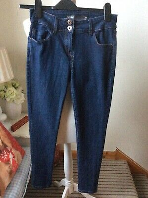 "NEXT Blue Skinny Fit Jeans Denim Size UK 8 Regular L28"" Trousers Slim"