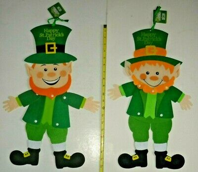 89cm St Patricks Day Jointed Leprechaun Cut Out