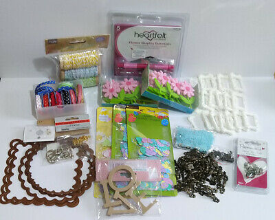 Craft Room Clearout - Spellbinders, Twine, Embellishments, Ribbon, brads etc..