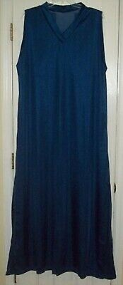 """LONG NIGHTGOWN Navy Nylon Tricot 50"""" Chest * 62"""" Length * 3"""" SHOULDER STRAP 3X"""