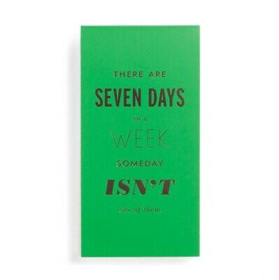 Kate Spade New York Large Notepad, Seven Days a Week