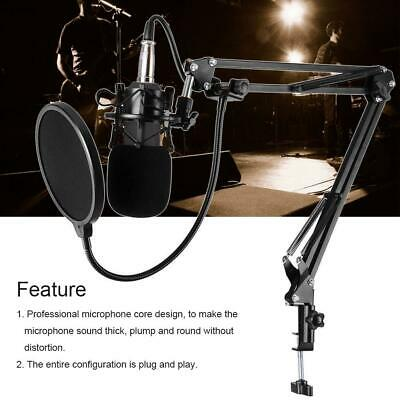 BM-800 Cardiod Condenser Capacitor Microphone Music Recording Mic for PC