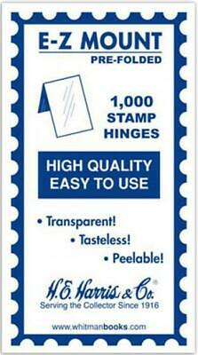 1000 HE Harris High Quality Prefolded Stamp Hinges Gummed Peelable Transparent