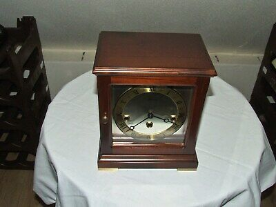 DUTCH WARMINK Mantel Clock Westminster Chiming,5 Hammers,2 JEWELS,SILENT OPTION