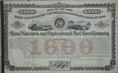 Rome Watertown and Ogdensburgh Railroad Company Bond