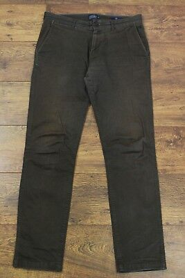"""JOULES Mens COFFEE Brown THE CHINO Trousers - Waist 32"""" - Leg 32"""""""