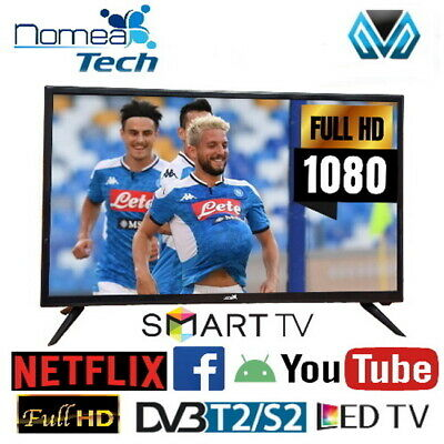 "NomeaTech NMT32DFHD Televisore Monitor 32"" Pollici TV LED FULL HD DVB-T2, USB"