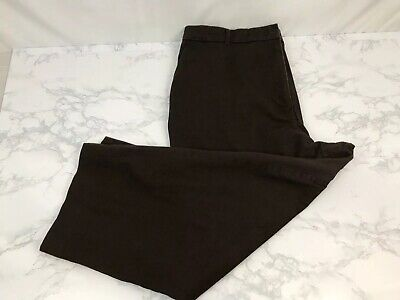JM Collection Capris Stretchy Pants Womens 16 Brown Cropped Casual Work Slacks P