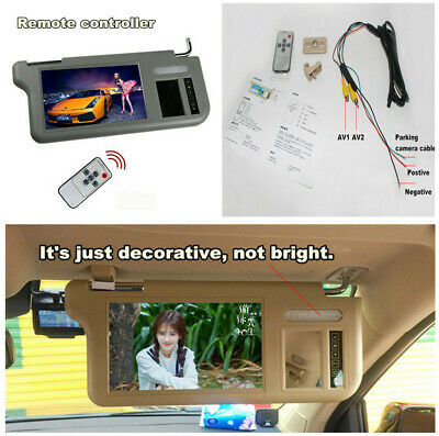 """7"""" Car Right Side 2 Channel Video Sunvisor Monitor+Controller for DVD TV &Camera"""