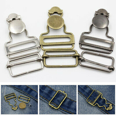 2pcs 45mm Metal Clip Dungaree Buckles Fastener DIY For Sewing Clothing Jumpsuits
