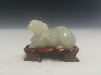 Chinese Carved Jade Ram.