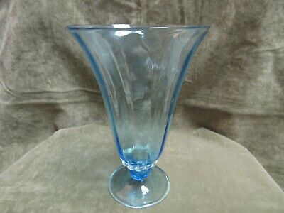 1920's Capellin Venini Italy Italian Light Blue Art Glass Vase Vittorio Zecchin