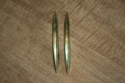 """Lot Of 2 Used Art Deco 2.75"""" Drawer Pulls Gold Colored Door Knob See Pix!!"""