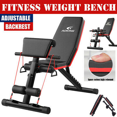 700lb Folding Adjustable Sit Up AB Incline Abs Bench Flat Fly Weight Press Gym