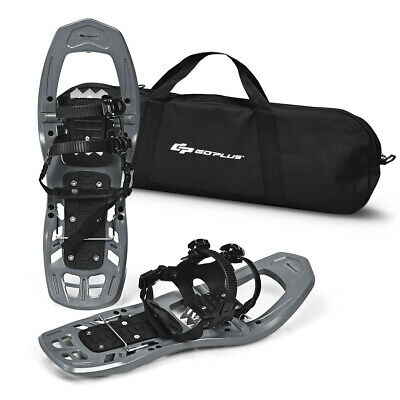 22inch Lightweight All Terrain Snowshoes for Men Women w/ Bag Anti Slip Grey