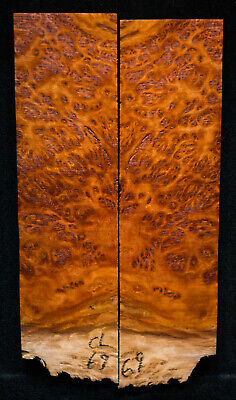 """Coolibah Burl #69 Knife Scale 6.7-7.5""""x 2""""x 3/8"""" see 100 species in my store"""