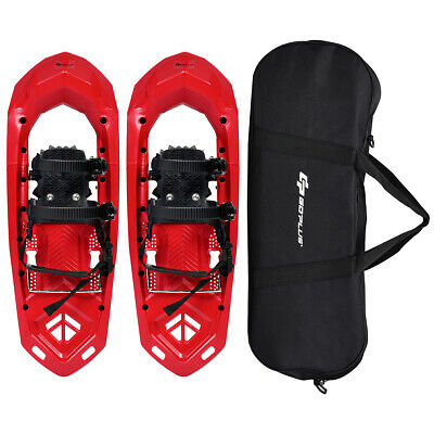 25inch Lightweight All Terrain Snowshoes for Men Women w/ Bag Anti Slip Red