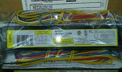 Lot of 10 Philips Advance Electronic Ballast 32 Watts IOPA-4P32-LW-N 112327-1