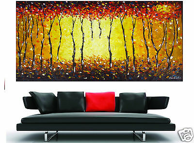 Australia Bush Fire dream landscape abstract art oil painting large original
