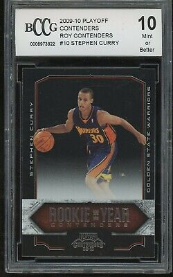 2009-10 playoff contenders roy STEPHEN CURRY rookie BGS BCCG 10