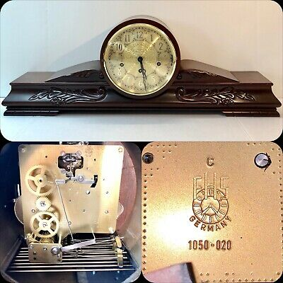 FHS German Westminster Triple Chime Mantle Deco Clock 1050-020 Movement With Key