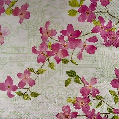 3 Paper Napkins for Decoupage/Parties/Weddings - Blossoms