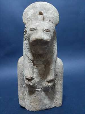 ANCIENT EGYPTIAN ANTIQUES GODDESS SEKHMET Powerful Statue Egypt Carved Stone BC
