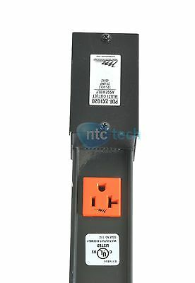 Middle Atlantic 125V Power Strip, 20 Outlet, 20A, Hardwired