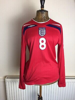 Size 14 Vintage England Football Top World Cup 2008/10 Frank Lampard No 8 Umbro