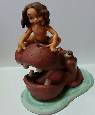 Disney Young Tarzan and hippo figurine