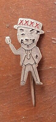 Xxxx Man Beer Pin Badge Castlemaine Perkins Qld Brewery