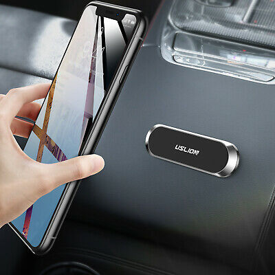 Mini Magnetic Strip Shape Car Phone Holder Stand For iPhone Samsung Magnet Mount