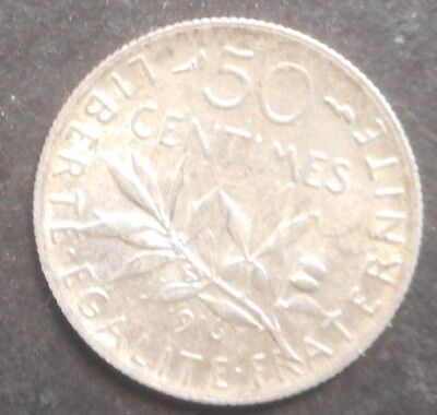 France 1868 A 1895 A (ex Mount) 1916 50 Centimes Silver coin