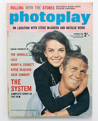 Vintage Photoplay magazine October 1964 Steve McQueen cover