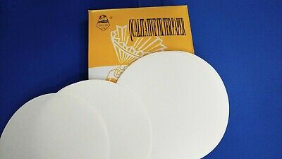 Lab Filter Paper Qualitative Pack of 100 For Laboratory Chemistry 15cm / 150mm