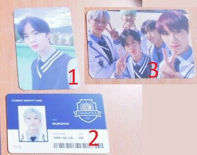 CIX Jinyoung Seunghun Photocard ID 2nd Album Chapter 2 Hello Version numb cd