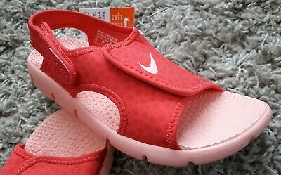 Nike Sunray Adjust 4 Kids Girls Swim Sandals Shoes Size Uk 2.5 Pink Summer New