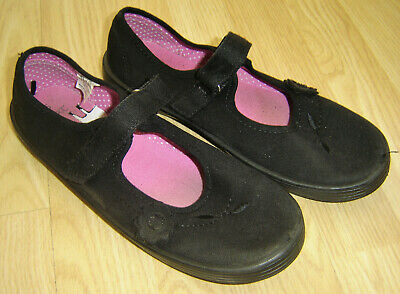 Pair Of Used Girls Black Plimsole Pumps From Next Size 5