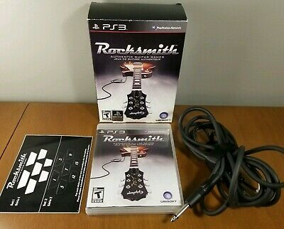 Rocksmith (Sony PlayStation 3, 2011) Complete with Real Tone Cable