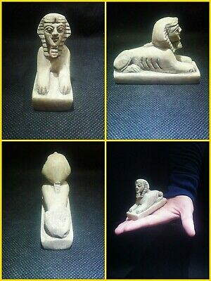 EGYPTIAN ANTIQUES ANTIQUITY Great Sphinx Figure Statue Sculpture 2558-2536 BC