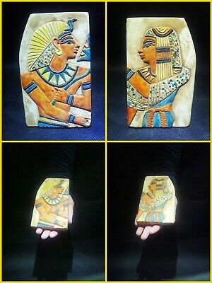 EGYPTIAN ANTIQUES ANTIQUITY Two Different Sides Drawings Stela 1549-1305 BC