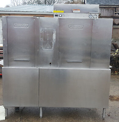 Hobart CRS66A Conveyor Dishwasher with extra parts/etc.