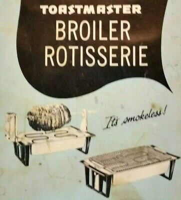 Toastmaster Broiler Rotisserie model 5256 Indoor Grill REPLACEMENT PARTS CHOICE