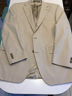J.Press Cotton Suit Jacket SPORTCOAT Tan Beige 41R 3/2 Roll Parker Trad Ivy Sack