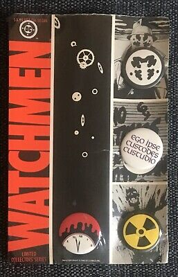 DC Watchmen 1986 Badge Pin Set Number 160 Alan Moore And Dave Gibbons