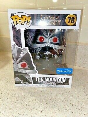 "NIB Game of Thrones Funko Pop! ""The Mountain"" 6 inch Walmart Exclusive"
