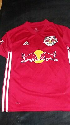 Boys age 11-12 years NEW YORK RED BULL FOOTBALL TOP RED adidas good cond