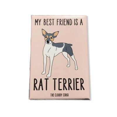 Rat Terrier Dog Magnet Best Friend Gifts Kitchen Accessories and Home Decor